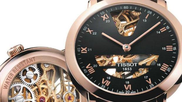 Tissot Sculpture Line Skeleton Watch