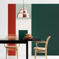 Dark green + copper