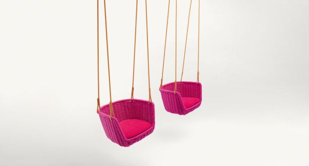 Contemporary chair / suspended / garden